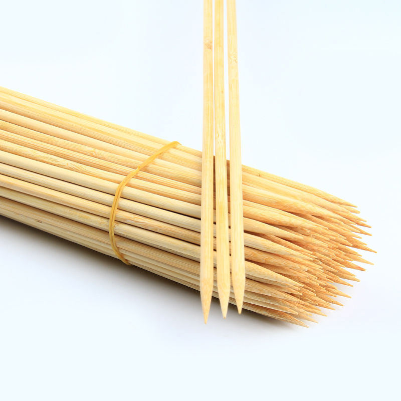 100 pcs stocked 90 cm marshmallow roasting sticks with bamboo material