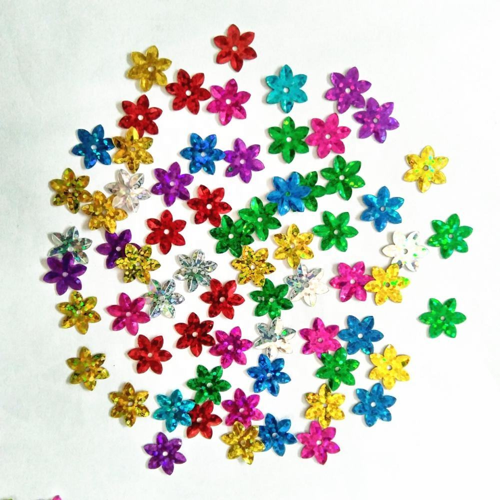 DIY 8mm shiny flowers loose sequins Paillettes sewing Wedding many Color U Pick