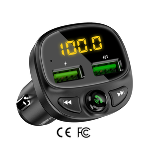 Free Shipping 1 Sample OK CE FCC FLOVEME Car Kit Bluetooth FM Transmitter Car MP3 Player With Dual USB Charger Car Phone Charger