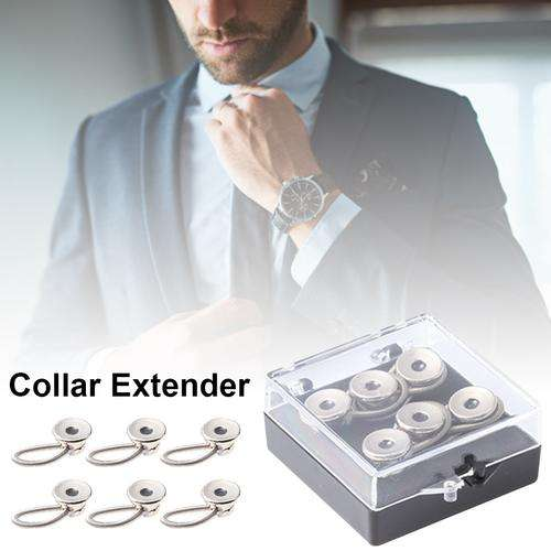 Collar Pant Extender Neck Extender Button for Size Expansion of Men Dress Shirts