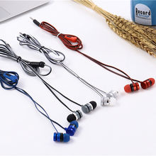 Factory price CY-028 Wired Earphones universal Headphones in Ear  with Mic Stereo cy028 Sports headset with  3.5mm plug