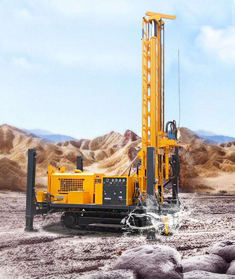 600m crawler mounted rock mining drilling machine hydraulic DTH drilling rig
