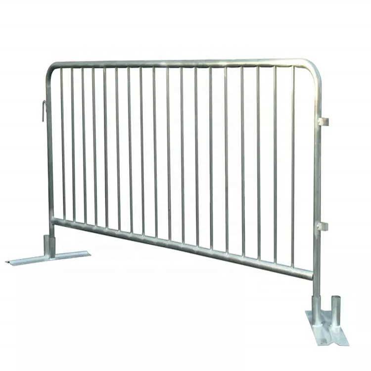 Polishing stainless construction barriers concrete road barrier steel barricade fence