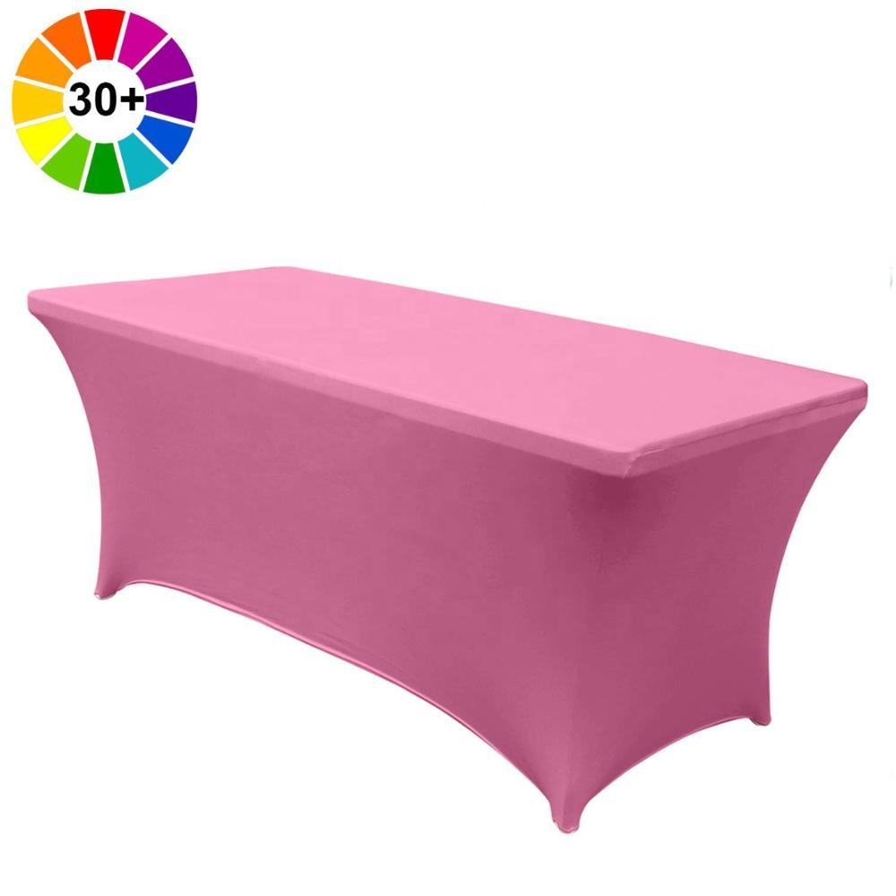 ABCCANOPY Spandex Table Cover 6 ft. Fitted Wedding Party Event Stretch Spandex Tablecover-Table Runner (Pink)