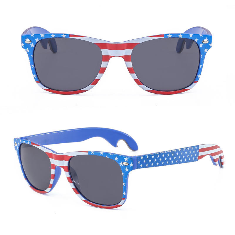 Oversize party sunglasses hot selling USA bottle opener glasses