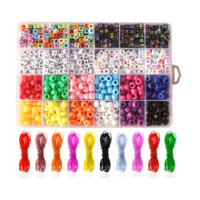 Amazon 10 color elastic ropes 24colors plastic box packing pony beads and  letter beads kit