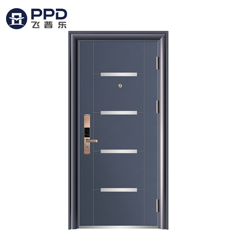 This year best selling with security system used commercial soundproof and noiseproof security doors for homes