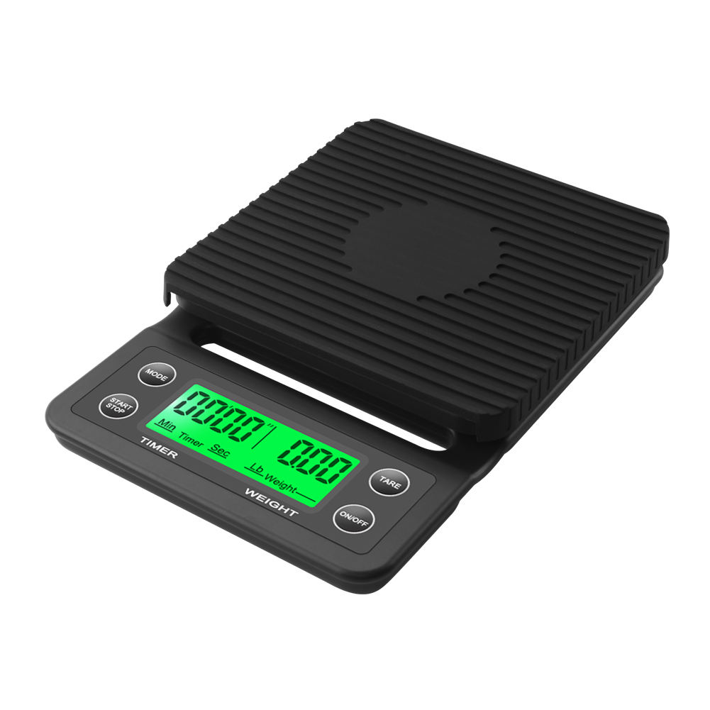 3kg/0.1g Drip Coffee Scale With Timer Portable Electronic Digital Kitchen Scale High Precision LCD Electronic Scales