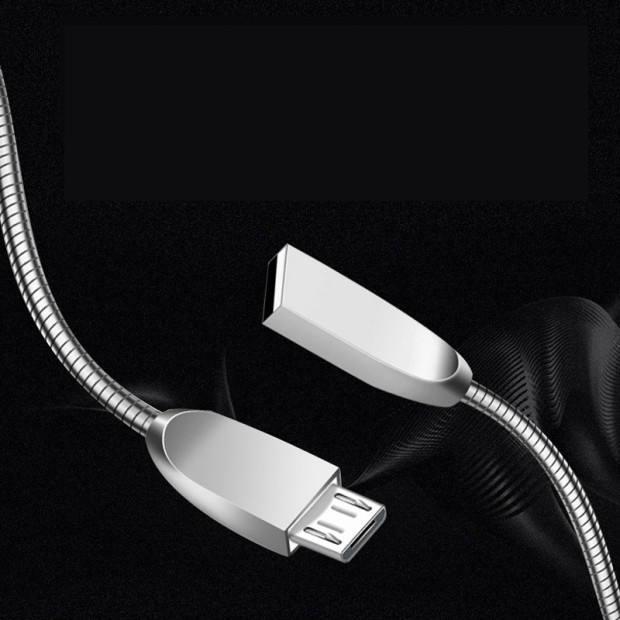 1 M Xám Màu USB 2.0 AM Để Micro Sạc Cáp Với Hợp Kim Nhôm