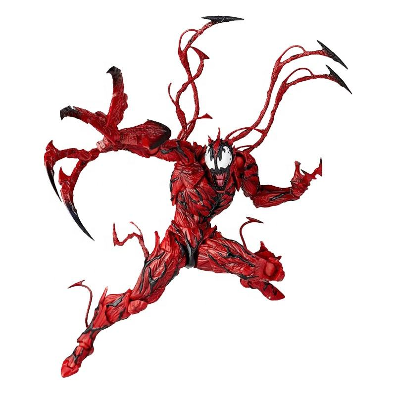 Amazing-Yamaguchi Series No.008 CARNAGE VENOM Red Action Figure toys Articulated Joints Moveable Vinyl Doll Collection Model