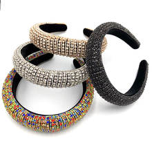 Baroque Hairband Rhinestone Accessories Crystal Metal Headbands For Women