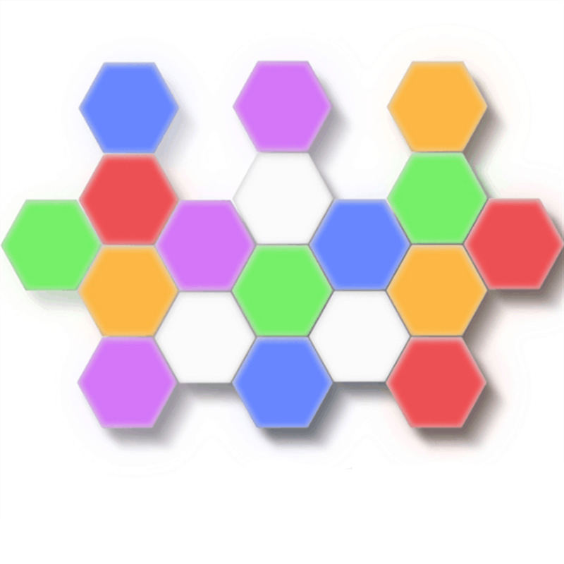 10PCS Holiday light Cute Children White Color Decorative Magnetic Hexagonal Touch Quantum Honeycomb Wall Lamp Led Night light
