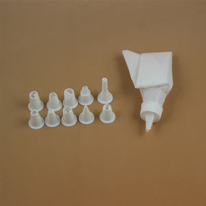 Keuken Accessoires Icing Piping Cream Spuitzak Met 10 Plastic Nozzle Set Diy Cake Decorating Tips Set
