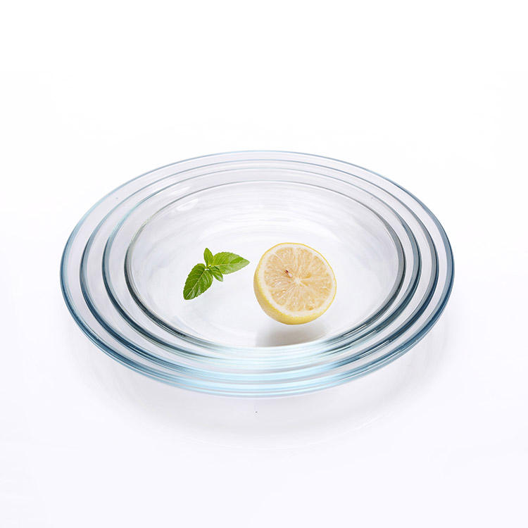 Cheap price glass clear small round dinner plate