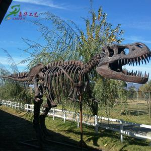 KAWAH factory indoor outdoor exhibition T-rex dinosaur skeleton fossil replica for sale