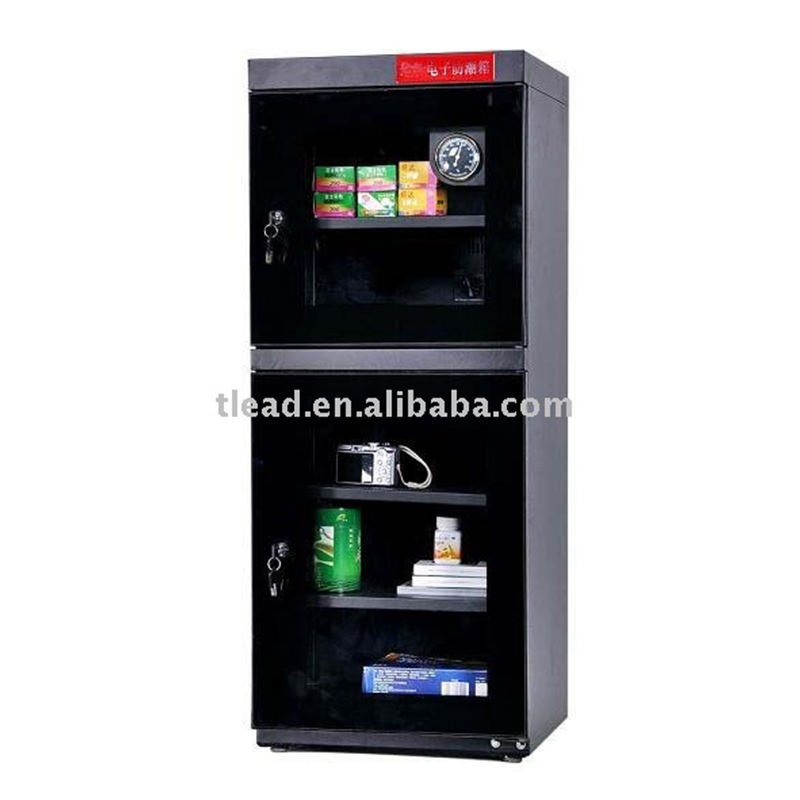 Electric Dry Cabinet with Clock Gauge Moistureproof Box