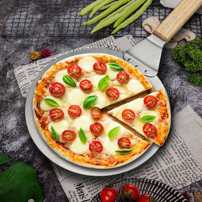 Metal Tools Pizza Peel Shovel Wood Plastic Handle for Easy Storage Large Size Pizza Scoop 10inch