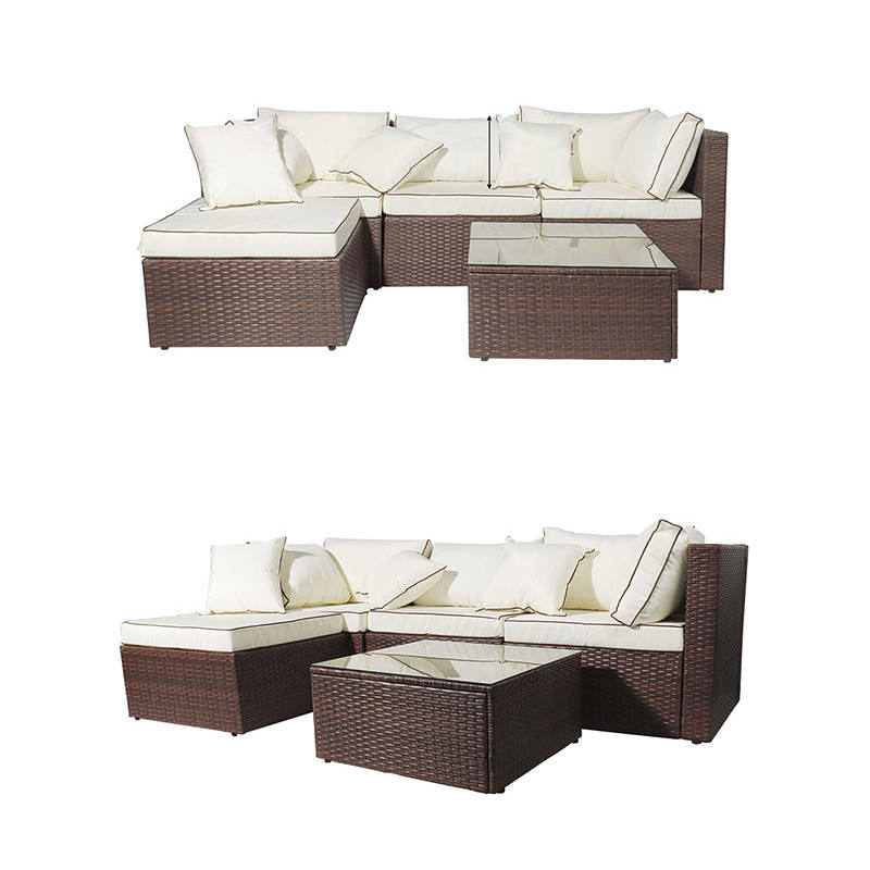 Assembly Required Furniture Rattan Sets Patio Furniture Set Backyard Porch Garden Poolside Balcony with Coffee Table
