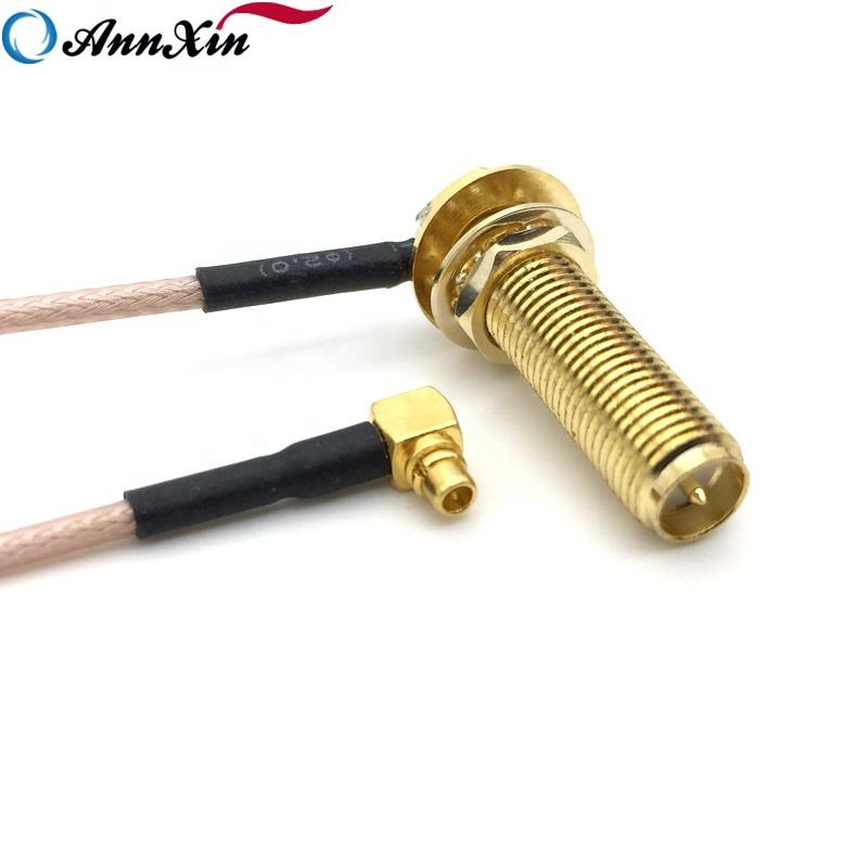 Long Thread SMA Female to MMCX Male connector RG178 Pigtail Cable 22cm Long