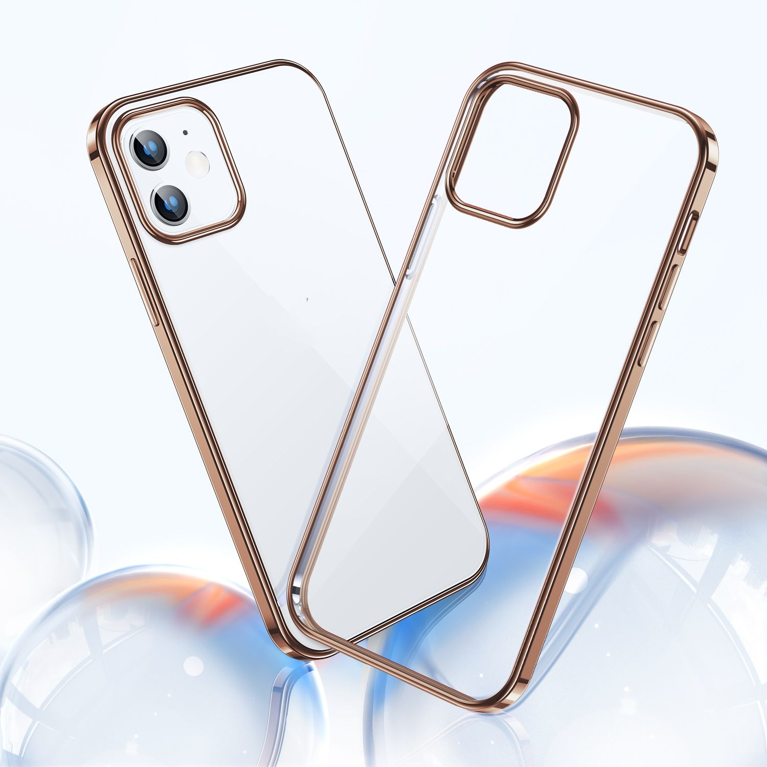 TORRAS 2020 Crystal Clear Golden Silicone Phone Case For iPhone 12 Mini 10-Time Anti-Yellowing Shockproof 5.4 Inch iPhone Case