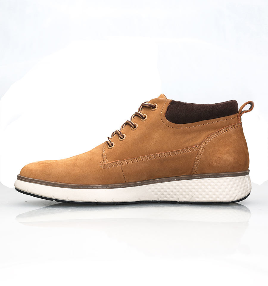 Brown fashion design soft casual fashion men's leather boots