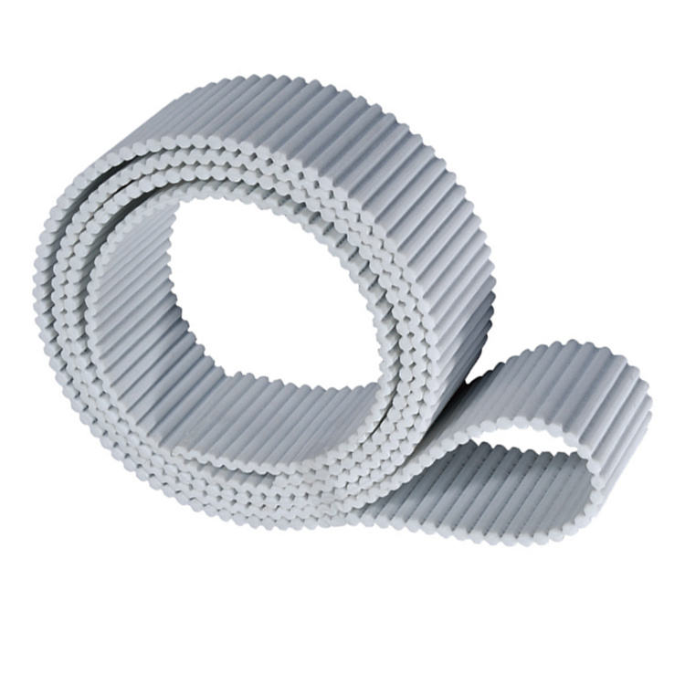 white steel core double sided PU toothed belt
