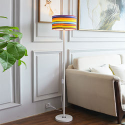Professional supplier designer D35*H149CM white black modern floor standing lamps