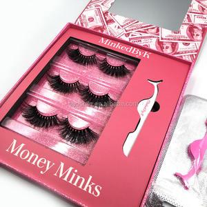 lashbox Private Label Super long dramatic 25mm Eyelashes 3D Mink Lashes book, custom eyelash book packaging lashbook packaging