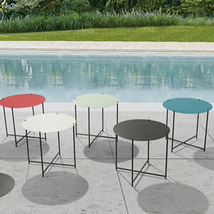 TCTD Indoor And Outdoor Nordic Round Small Steel Folding Table,Custom Outdoor Patio Furniture Small Tea Table