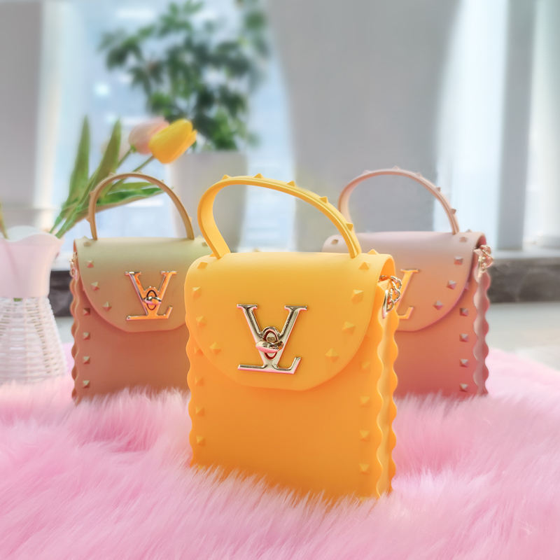 2021 Fashion Mini Square Telephone Louiss Viutton Bags Women Handbags Luxury Crossbody Rivet PVC Jelly Rivet Purse for Women