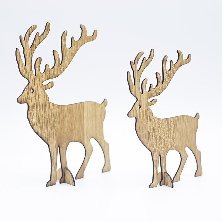 The factory wholesale decoration articles wood Christmas elk for Christmas