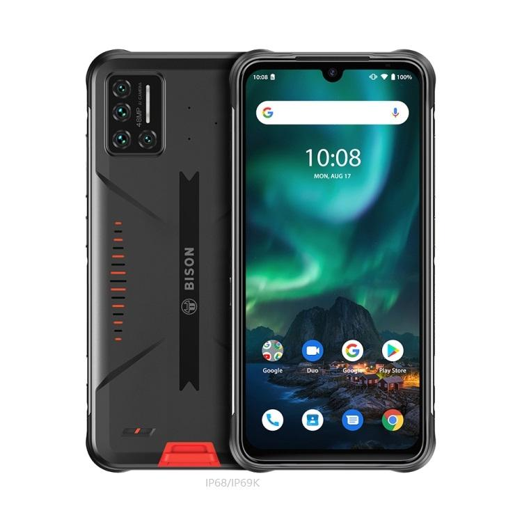 Same日無料IP68/IP69K 6.3インチAndroid 10.0 6GB RAM 128GB UMIDIGI BISON Rugged Phone