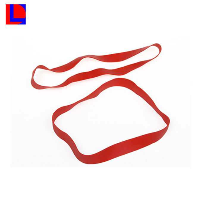 Quality molded natrual rubber red wide rubber band