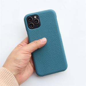 For Apple Iphone 11 12 Pro Max Case Anti-scratch Luxury Genuine Leather Hard Mobile Phone Back Cover Cases For Iphone 11