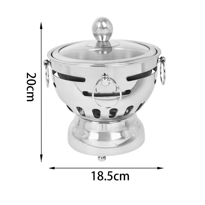 Catering equipment china supplier stainless steel ss hot pot one person of shabu pan chafing dish