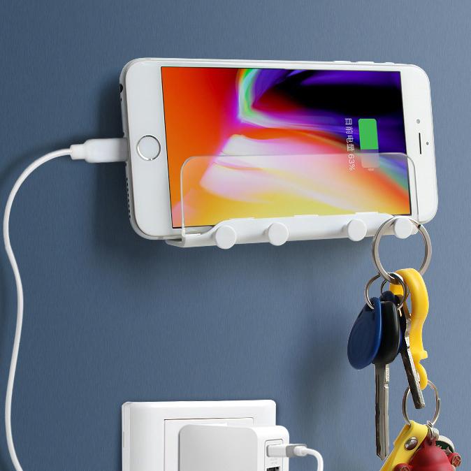 Amazon Hot Sale Wall Phone Holder and Key Hooks