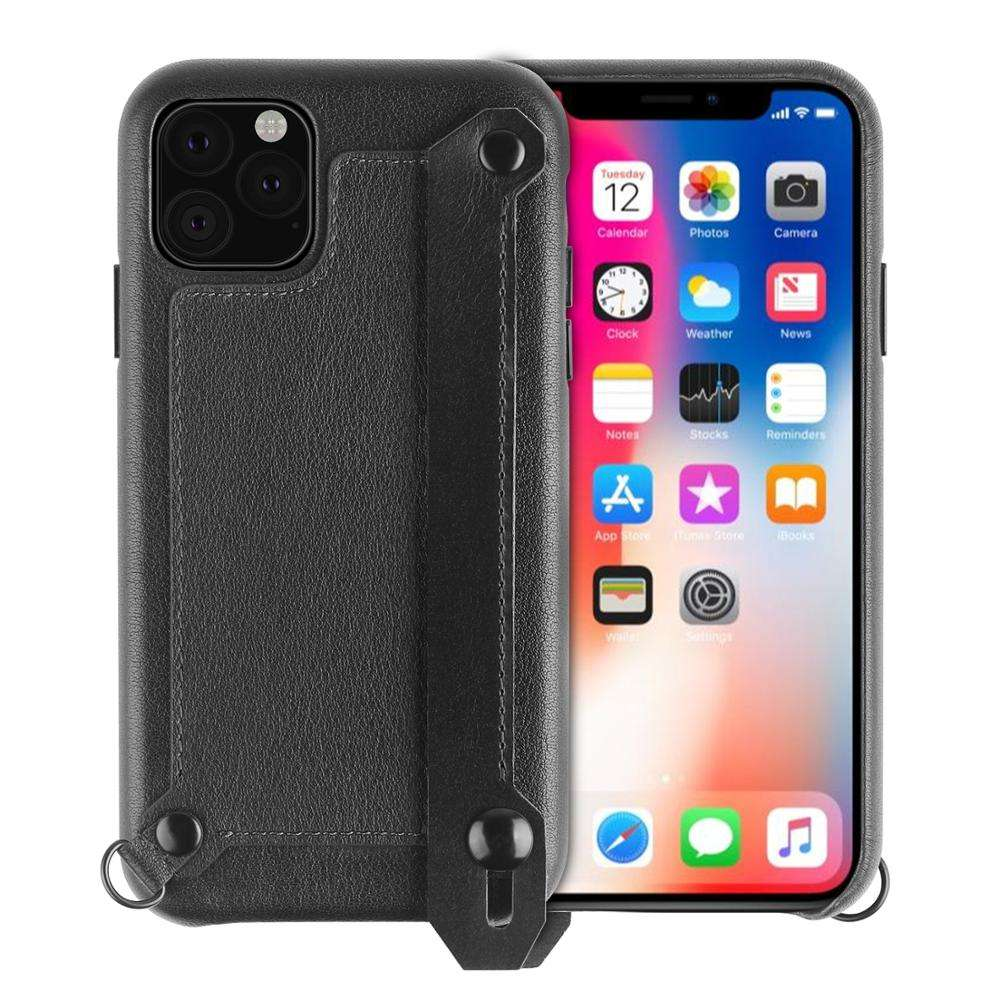 "XGUO ""TANK"" Lite Genuine leather phone case with card slot & phone holder"