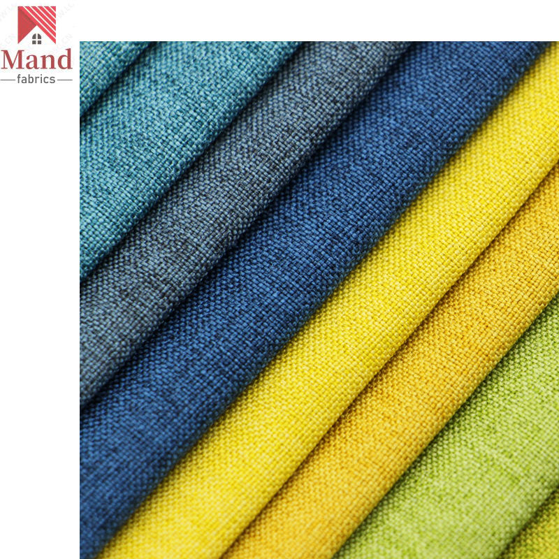 Mand textile manufacturer wholesale best price light 100% polyester bonded water resisting chair cover linen cloth in stock