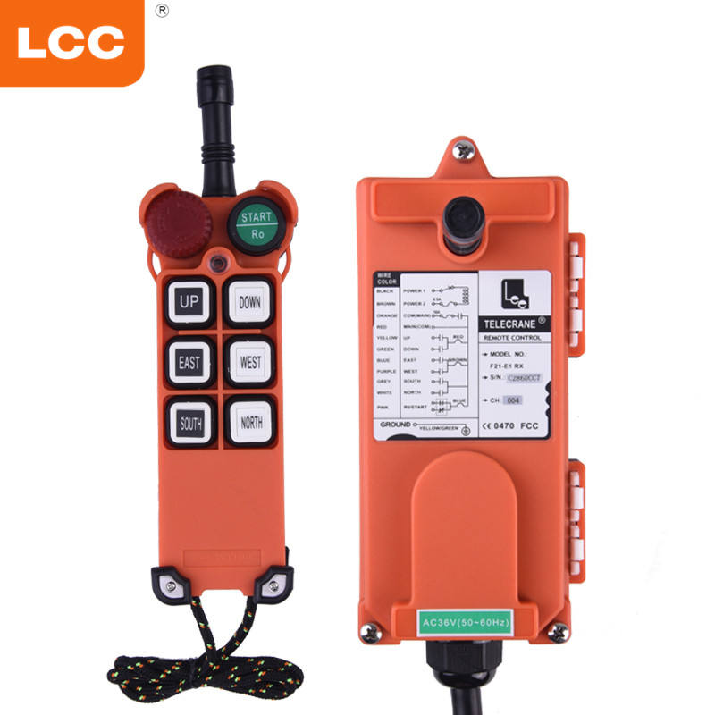 F21-E1industry 220 V Universal Nirkabel Transmitter dan Receiver RC Crane Remote Control Push Button Switch