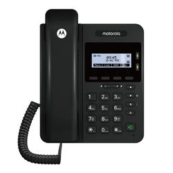 For Motorola 100IP-2P 2 Lines Entry Level IP Phone With 128x64 Pixels, Black And White Backlit Display