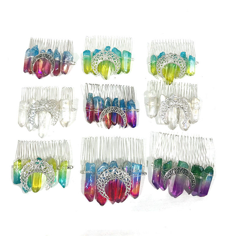 Wholesale Angel Aura Crystals Healing Stones Folk Crafts Crown For Decoration