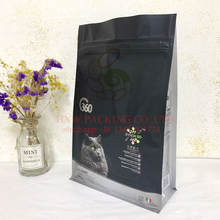 FREE SAMPLES food grade 2.5kg flat bottom holographic laser plastic foil lined pet dog food packaging bag