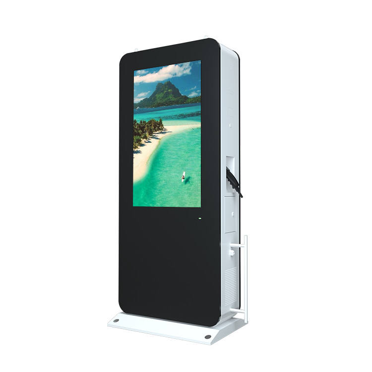 Auto Opladen Floor Stand Outdoor Media Deed Ad Machine Speler Hd Digital Signage