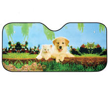 Colorful Cute Car Windshield Sun Shades Visor Cover Front Window Sunshade UV Rays Blocker Keep Vehicle Cool