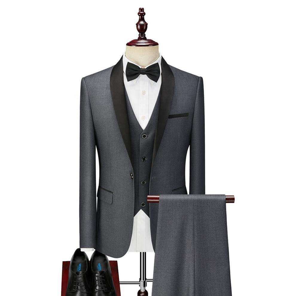 Men's business casual wedding dress and groom suit