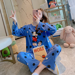 Southeast Asia hot style loose-fitting lady's pyjamas of big brand autumn and winter double size micky home wear