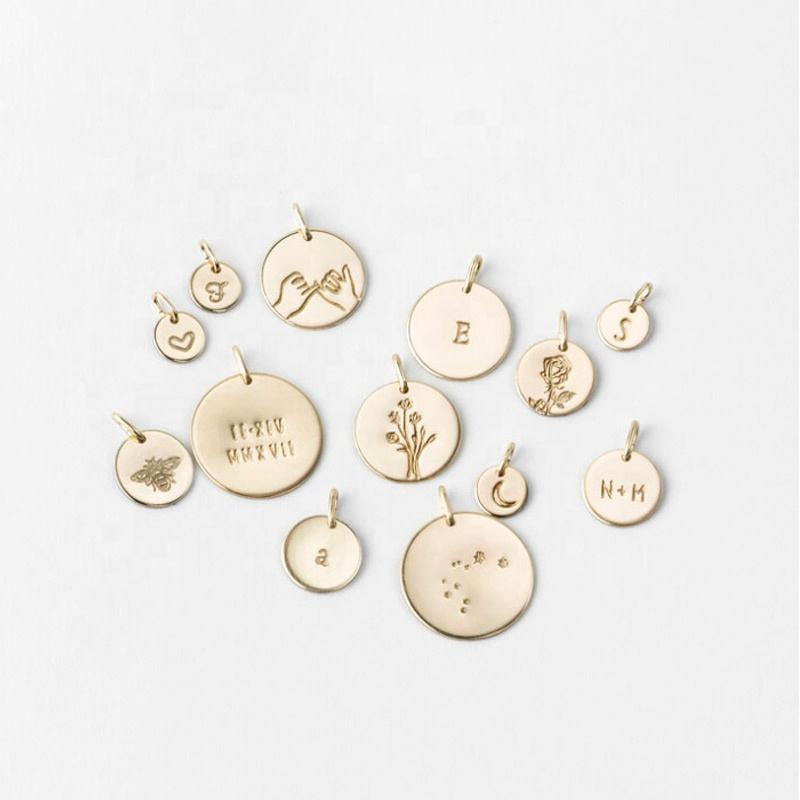 New arrivals custom engravable stainless steel metal logo tags charm for 2020 jewelry making