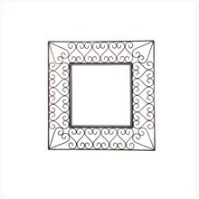 home decoration square 5inch metal framed wall mirrors black with shiny dimand beads