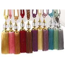 High quality curtain accessories curtain tassel tiebacks Colorful Curtain Tassels With Crystal Bead