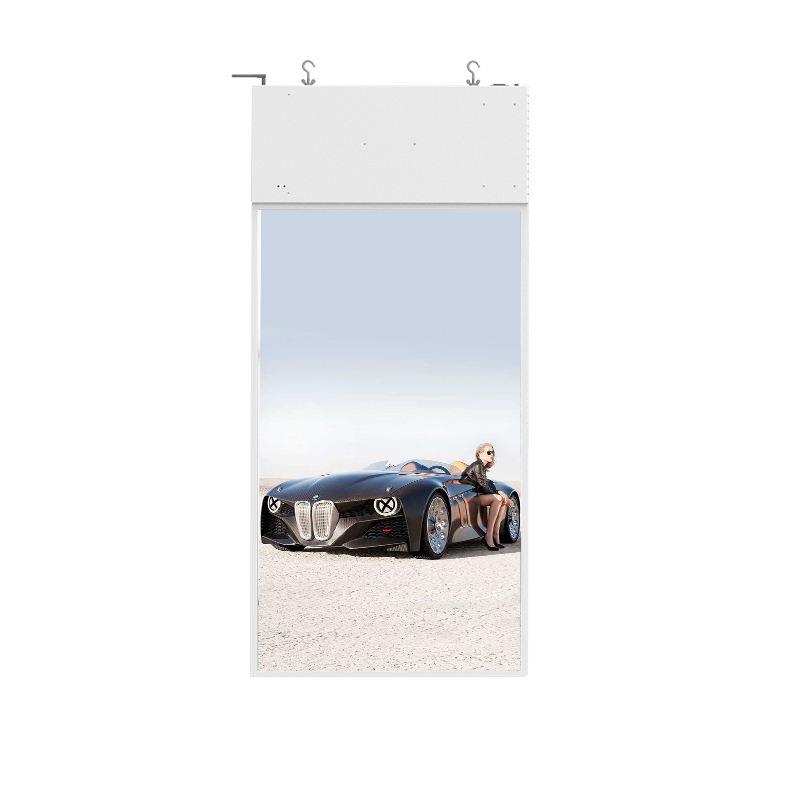 Prezzo di fabbrica 55 pollici negozio di finestra a doppio schermo pubblicità display <span class=keywords><strong>lcd</strong></span>